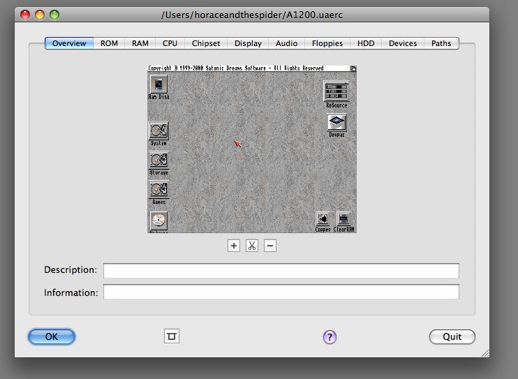 E-UAE (OSX): Emulating the Amiga on the Apple Macintosh